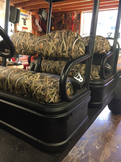 Golf Cart Seat Cover Vinyl Fleece Camo