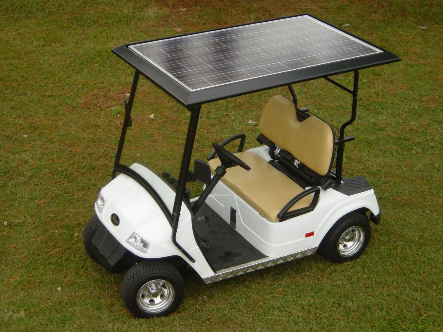 Charming Solar Panel As The Golf Cart Top, 235 Watts