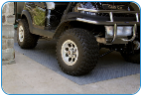 Garage Floor Mat - Diamond Plate Design