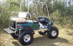 E-Z-GO Golf Cart with Lift Kit
