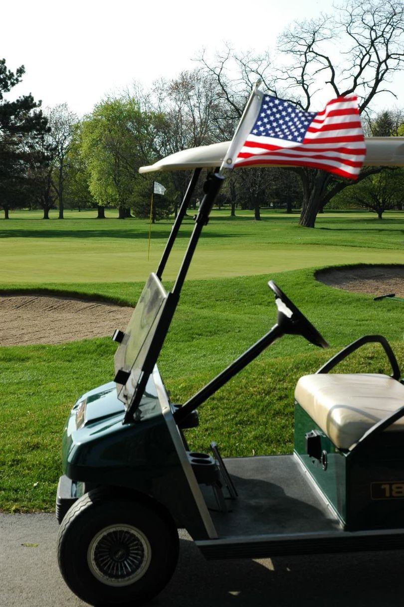 Golf Cart Flag Pole With Usa Flag Windsock Nfl Nba