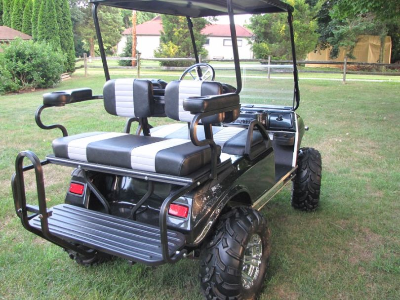 Golf Cart Rear Seats Sale On Folddown Flip Up For Golf Clubs